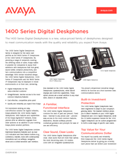 avaya 1403 quick reference guide