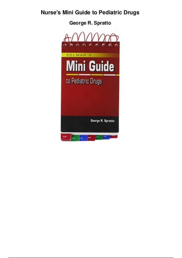 drug guide for nurses pdf