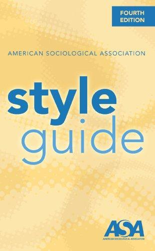 american sociological association style guide 4th edition