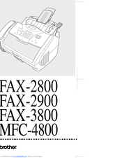 brother intellifax 2800 user guide