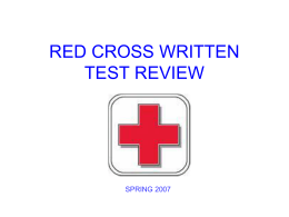red cross first aid test study guide