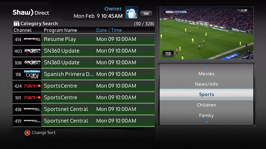 shaw direct tv guide ontario